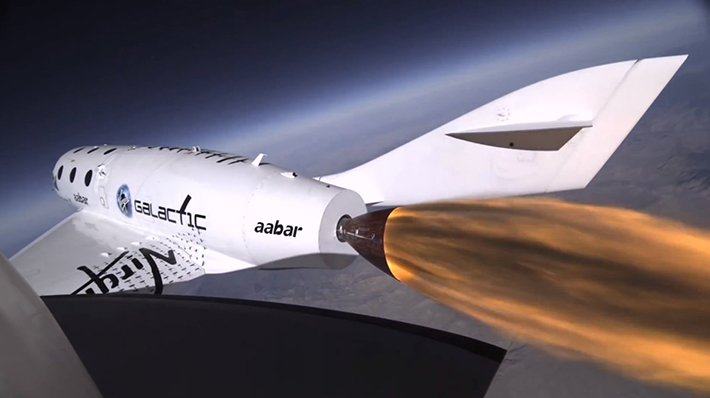 Virgin-Galactics-SpaceShipTwo-Rocket-Powered-Test This Jet takes Tourists to Space This Jet takes Tourists to Space Virgin Galactics SpaceShipTwo Rocket Powered Test