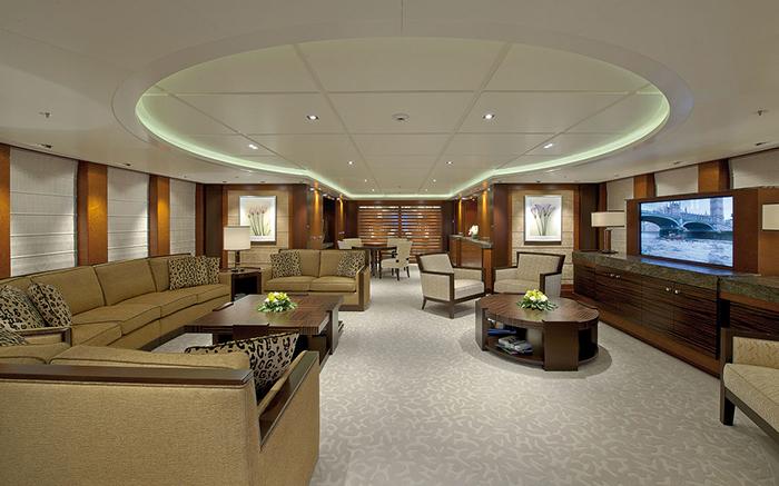 best yacht furnishing for a modern design. Black Bedroom Furniture Sets. Home Design Ideas