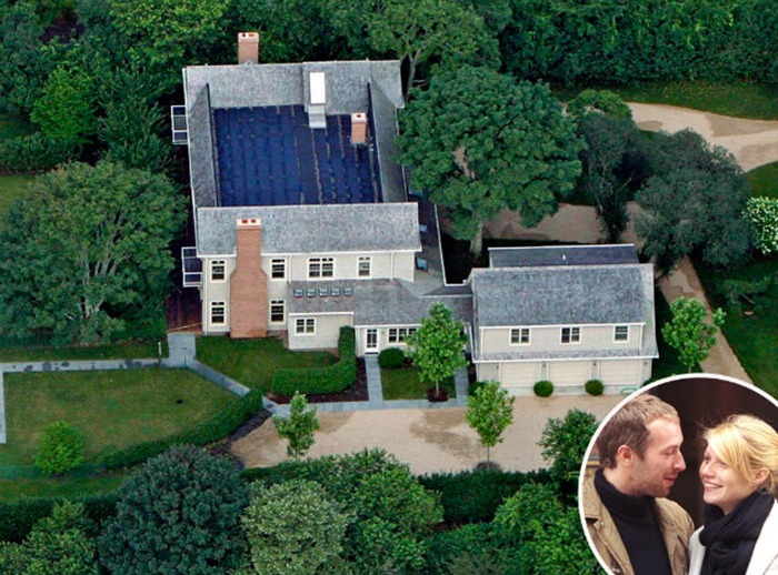 gwyneth paltrow & chris martin house celebrity homes MOST EXPENSIVE CELEBRITY HOMES IN THE HAMPTONS NEIGHBORHOOD gwyneth paltrow chris martin house