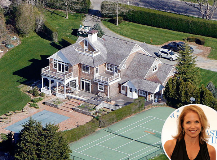 katie couric house celebrity homes MOST EXPENSIVE CELEBRITY HOMES IN THE HAMPTONS NEIGHBORHOOD katie couric house