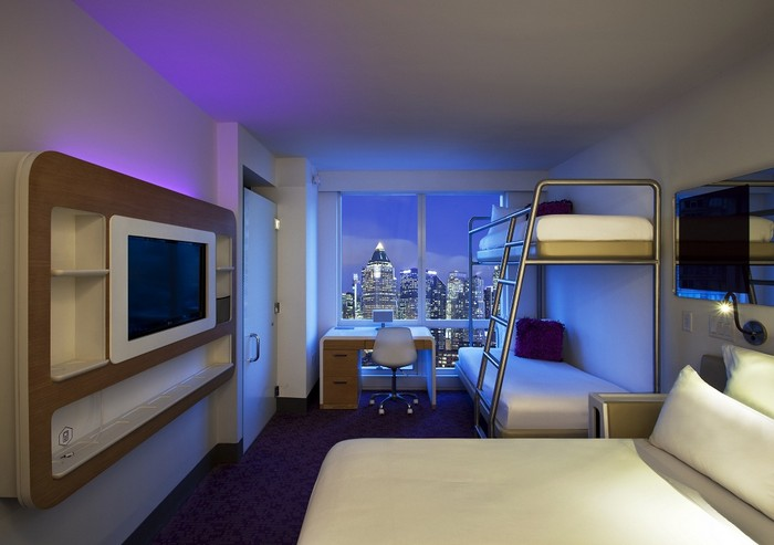 New york is home to the most hi tech hotel in the world for Cabin hotel new york