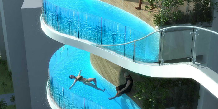 Mumbai - Luxury India  Mumbai - Luxury India  Mumbai – Luxury India  a luxury condo in india will have a private swimming pool on every balcony