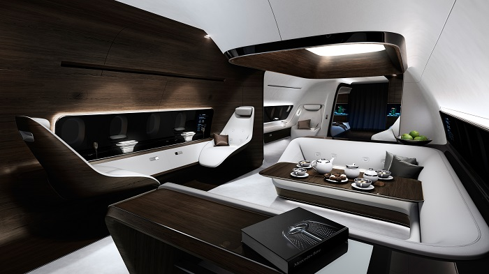 Mercedes and Lufthansa Create Luxury Private Jet interiors mercedes Mercedes and Lufthansa Create Luxury Private Jet interiors 13