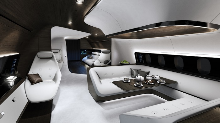 Mercedes and Lufthansa Create Luxury Private Jet interiors mercedes Mercedes and Lufthansa Create Luxury Private Jet interiors 22