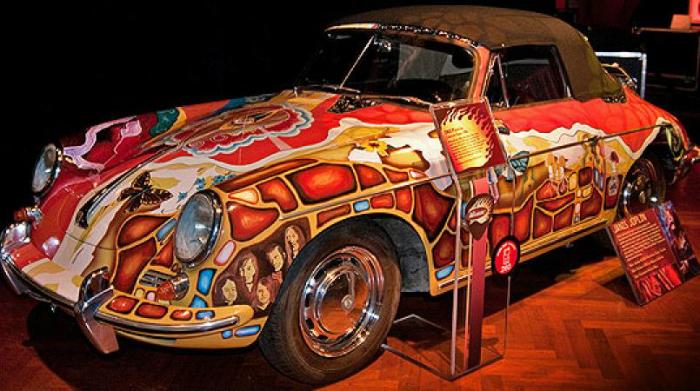 Janis Joplin's Psychedelic Porsche on Auction Block Janis Joplin Janis Joplin's Psychedelic Porsche on Auction Block janis joplins psychedelic porsche