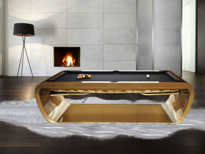 Gold Snooker Table - gaming room gaming room 20 Playing Tables For a Luxury Gaming Room Gold Snooker Table