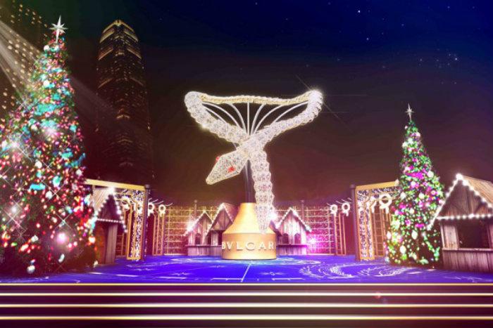 Hong-Kong christmas illumination Bulgari Enjoy a Sparkling Christmas with Bulgari Hong Kong christmas illumination by Bulgari