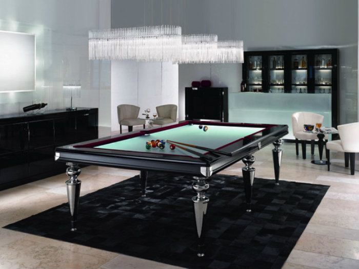 Luxury Snooker Table with Modern Design - gaming room  gaming room 20 Playing Tables For a Luxury Gaming Room Luxury Snooker Table with Modern Design