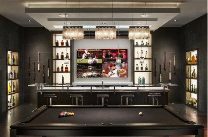 Modern Black Snooker Table - gaming room  gaming room 20 Playing Tables For a Luxury Gaming Room Modern Black Snooker Table