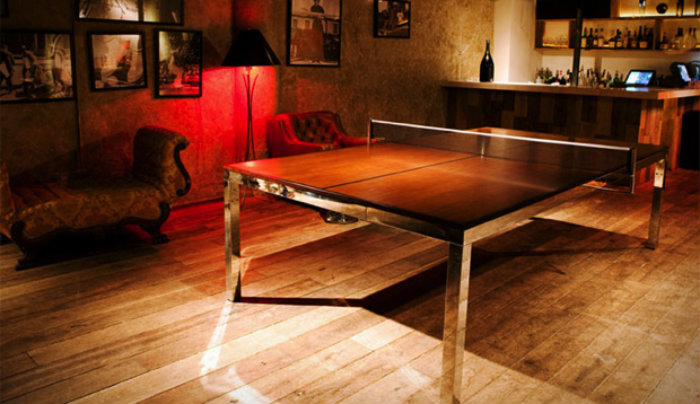 Modern Wood Surface in a Ping Pong Table gaming room 20 Playing Tables For a Luxury Gaming Room Modern Wood Surface in a Ping Pong Table