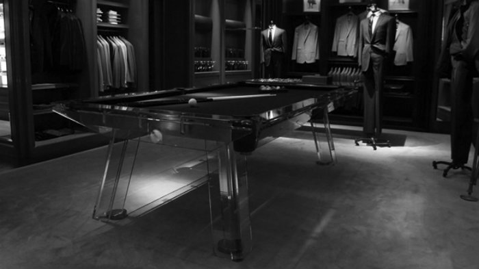 Modern billiard table by Ralph Lauren - gaming room  gaming room 20 Playing Tables For a Luxury Gaming Room Modern billiard table by Ralph Lauren
