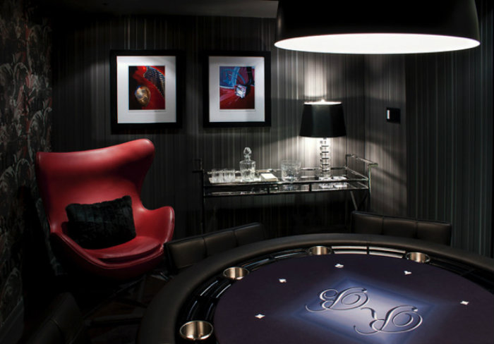 Purple Poker Table gaming room 20 Playing Tables For a Luxury Gaming Room Purple Poker Table