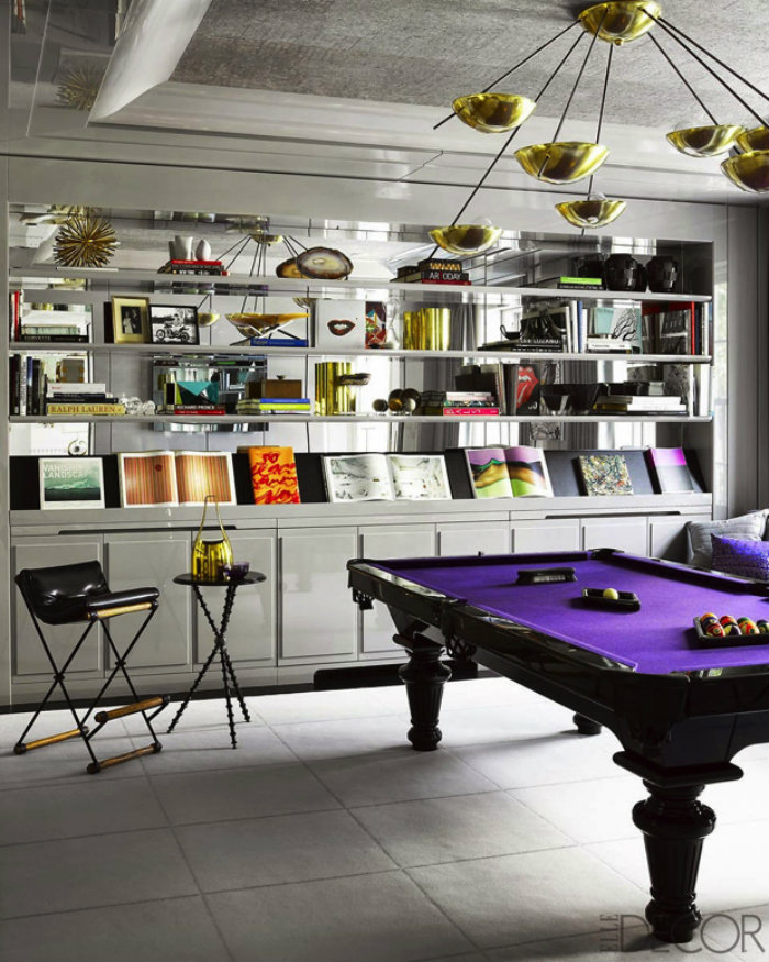 Purple Snoker Table gaming room 20 Playing Tables For a Luxury Gaming Room Purple Snoker Table