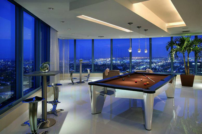Snooker Table with a Modern Design gaming room 20 Playing Tables For a Luxury Gaming Room Snooker Table with a Modern Design