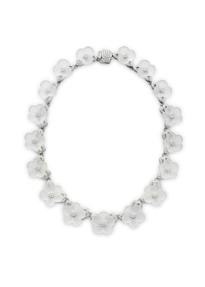 Tiffany & Co.'s rock crystal and diamond necklace at Christie's - Semi Precious Stones semi precious stones Semi Precious Stones Win Big Prices at December Jewelry Auctions Tiffany Co