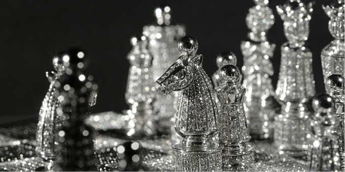 The most Elegant and the Most Expensive Chess Set In Diamonds Most Expensive Chess Set In Diamonds Most Expensive Chess Set In Diamonds Elegant Chess Set in Diamonds Luxury Safes