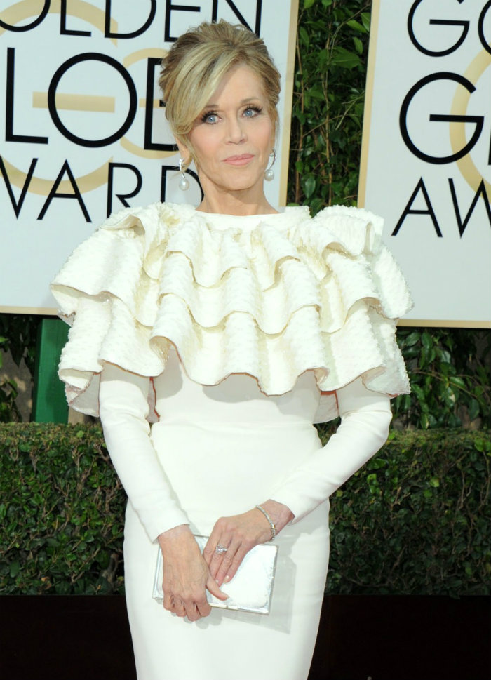 Expensive Jewelry Jane Fonda Golden Globes 2016 Golden Globes The Golden Globes' 10 Best Celebrity Jewelry Looks Expensive Jewelry Jane Fonda Golden Globes 2016