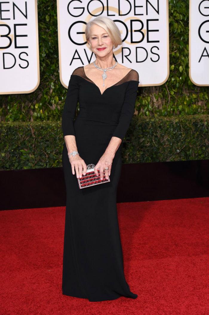 Luxury Jewelry Helen Mirren Golden Globes Golden Globes The Golden Globes' 10 Best Celebrity Jewelry Looks Luxury Jewelry Helen Mirren Golden Globes
