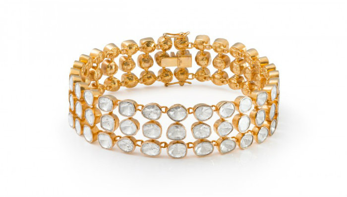 Three strand bracelet Exclusive jewelry piece Exclusive Jewelry Exclusive Jewelry Pieces made by Rough-Cut Diamonds Exclusive three strand bracelet jewelry piece