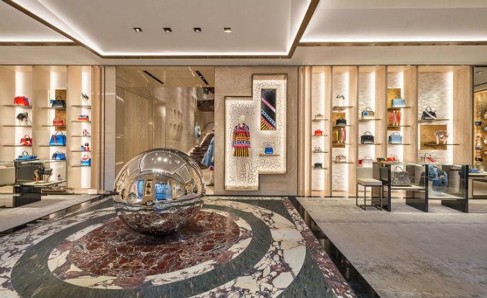 Clothes Boutique in Rome fendi The Renovated Luxury Palazzo Fendi in Rome Haute Couture Boutique