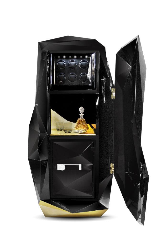 дизайнерские сейфы Дизайнерские сейфы Изысканные дизайнерские сейфы для домашнего хранения Diamond Luxury Safe by Boca do Lobo