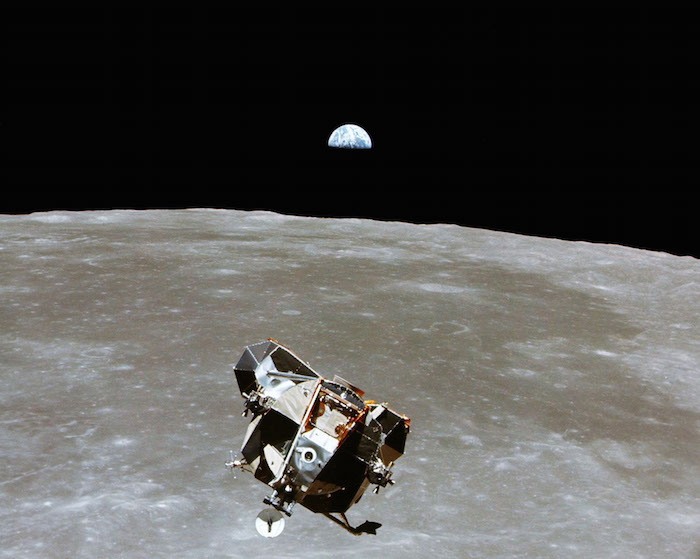 The Apollo 11 Lunar Module ascent stage, with astronauts Neil A. Armstrong and Edwin E. Aldrin Jr. aboard, is photographed from the Command and Service Modules in lunar orbit in this July, 1969 file photo. Photo courtesy of NASA/Handout via REUTERS ATTENTION EDITORS - THIS IMAGE WAS PROVIDED BY A THIRD PARTY. EDITORIAL USE ONLY - RTSKUF2 The Moon Express The Moon Express The Moon Express2