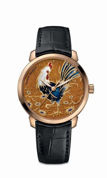 8152-111-2_rooster_ luxury watches Ulysse Nardin's 'Year of the Rooster' luxury watches 8152 111 2 ROOSTER