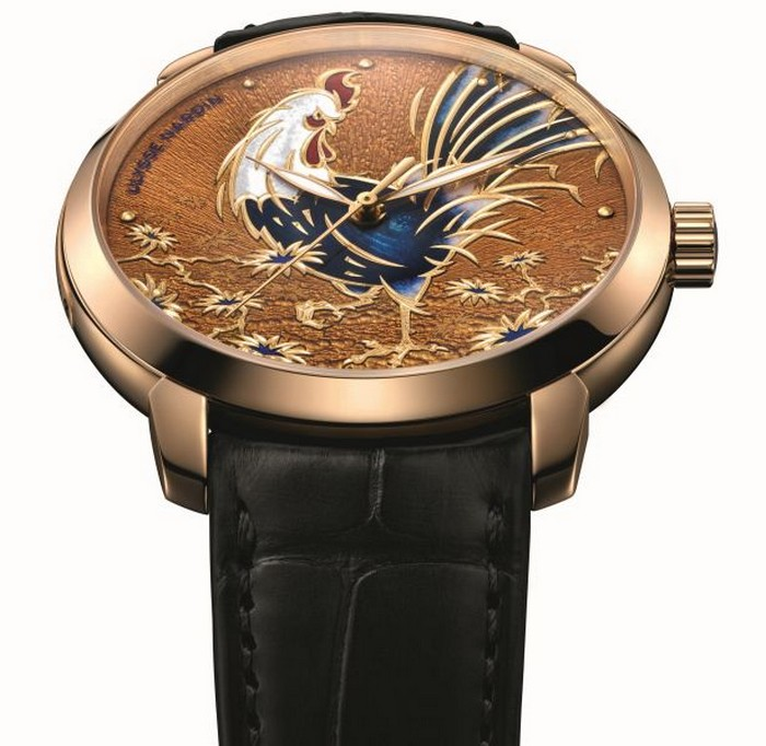 ulysse_nardin_classico_rooster_dial_and_strap luxury watches Ulysse Nardin's 'Year of the Rooster' luxury watches ulysse nardin classico rooster dial and strap