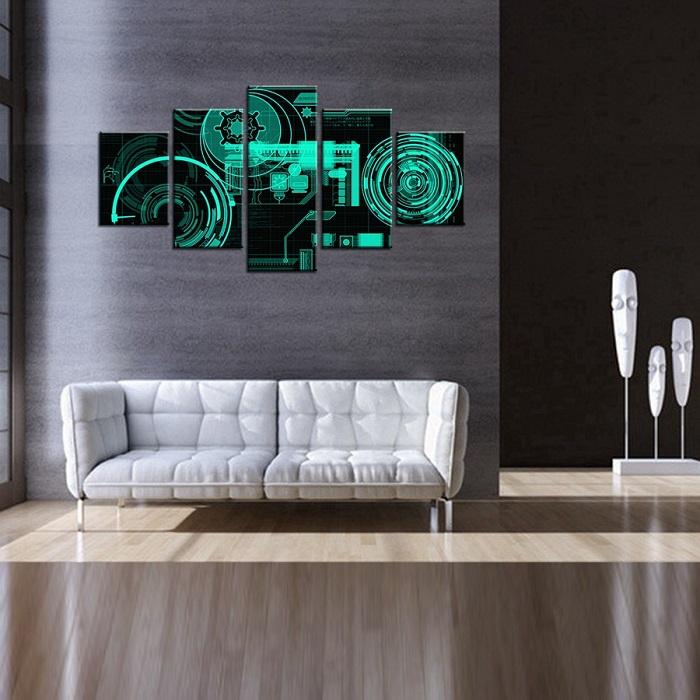 modern technology When Modern Technology Meets Art Ultra font b Modern b font Electronic font b Technology b font Component 3D Oil Painting