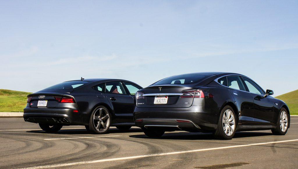 audi Sneak Peek: Audi S7 vs. Tesla Model S 90D 02 audis7vsteslamodels90d 004
