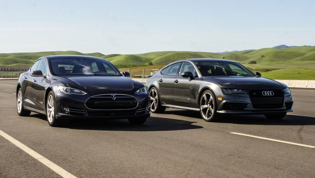 audi Sneak Peek: Audi S7 vs. Tesla Model S 90D maxresdefault