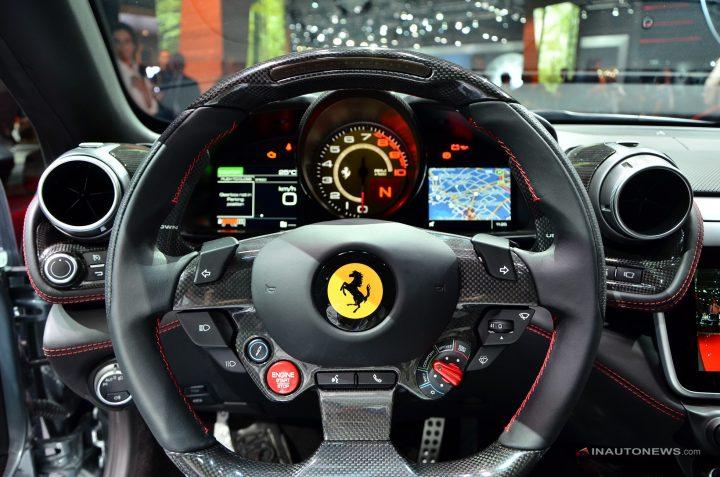 ferrari steering wheel  ferrari gtc4lusso Ferrari Unveils the New GTC4 Lusso Ferrari GTC4Lusso5