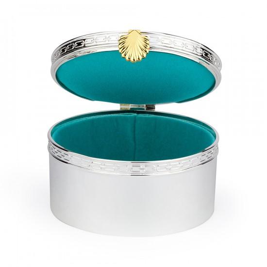 25 Coveted Jewelry Cases jewelry cases 25 Coveted Jewelry Cases TREASURES WITH LOVE AQUAMARINE SEASHELL by Vera Wang Wedgwood