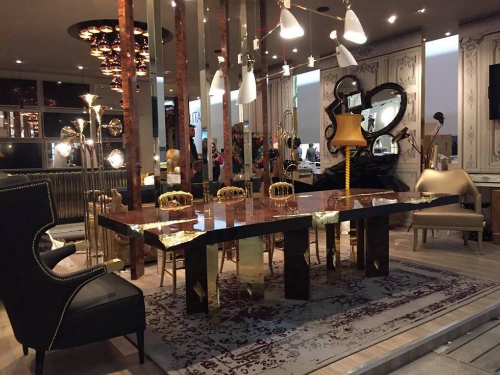 Sneak Peek: Salone del Mobile 2018 salone del mobile Sneak Peek: Salone del Mobile 2018 Salone del Mobile 2016 preview luxury furniture by Boca do Lobo EMPIRE gold dining table