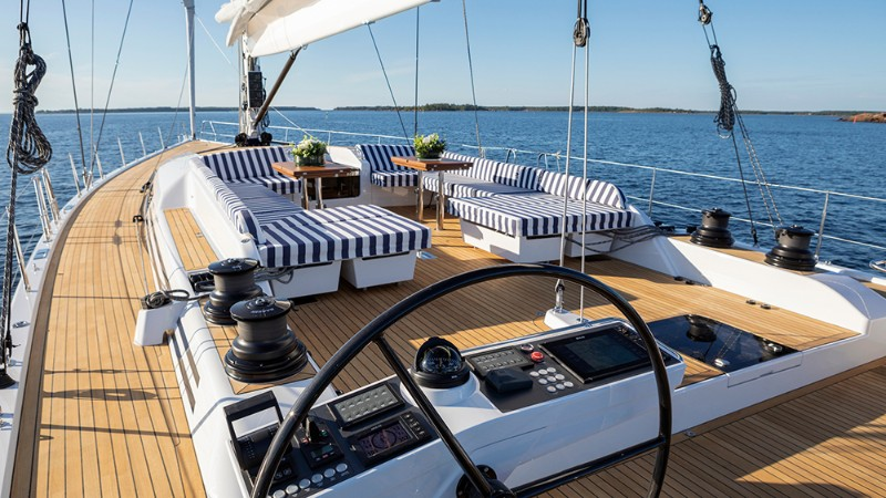 luxury yachts Discover the Top 5 Sailing Luxury Yachts in Cannes swan 78 kinina 3