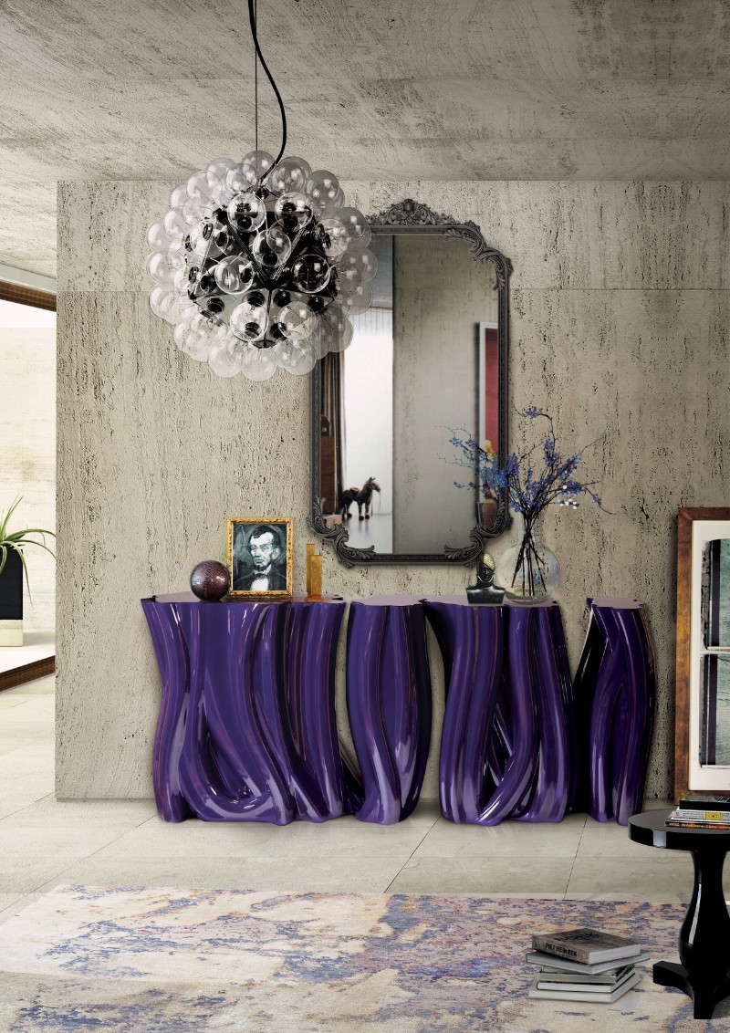 console table Discover the Luxury Monochrome Console Table by Boca do Lobo Monochrome Console Table by Boca do Lobo 2 1
