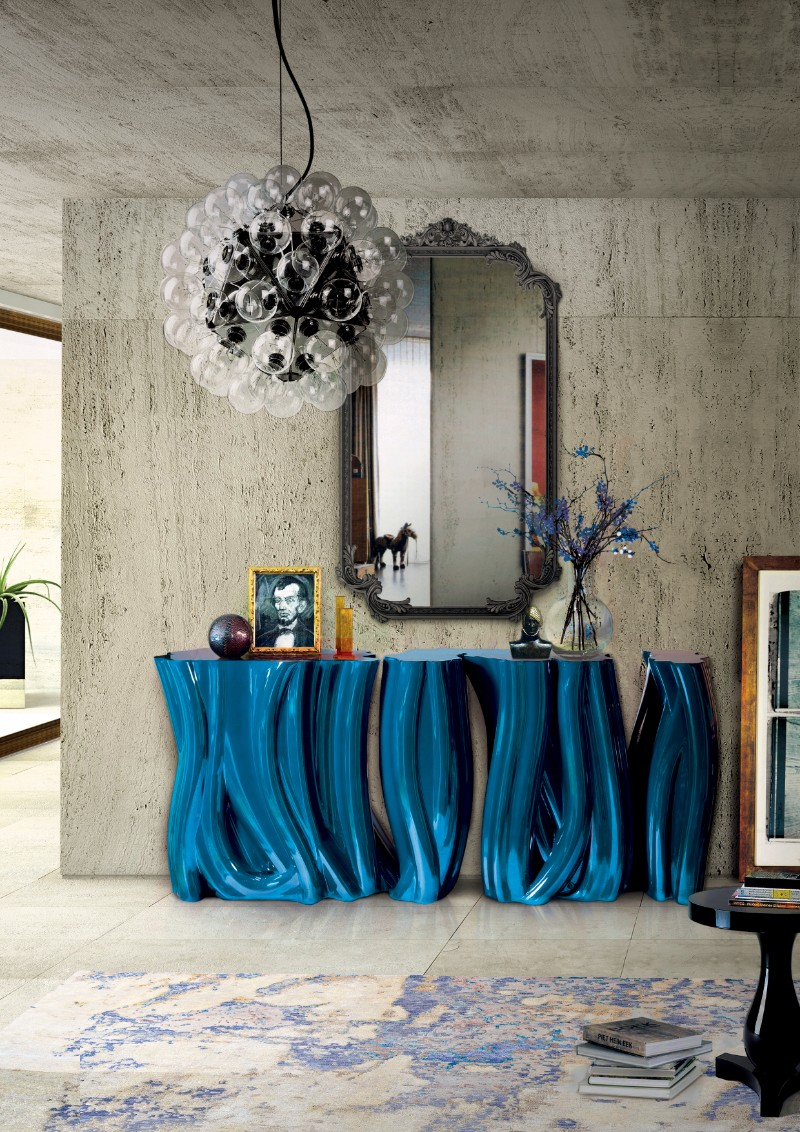 console table Discover the Luxury Monochrome Console Table by Boca do Lobo Monochrome Console Table by Boca do Lobo 4
