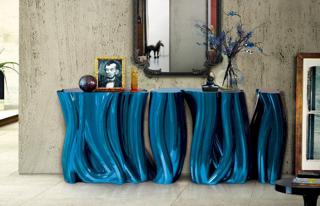 Discover the Luxury Monochrome Console Table by Boca do Lobo