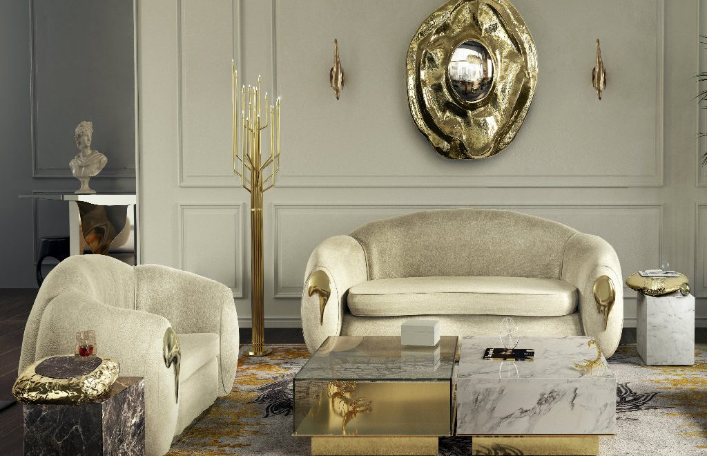 Luxury Living Room With Unique Furniture Pieces