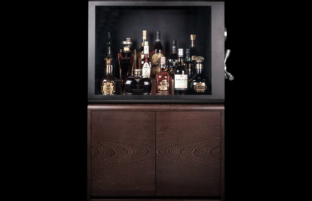 Whisky Vault – A Modern Cabinet To Keep Safe Your Whiskey Bottles