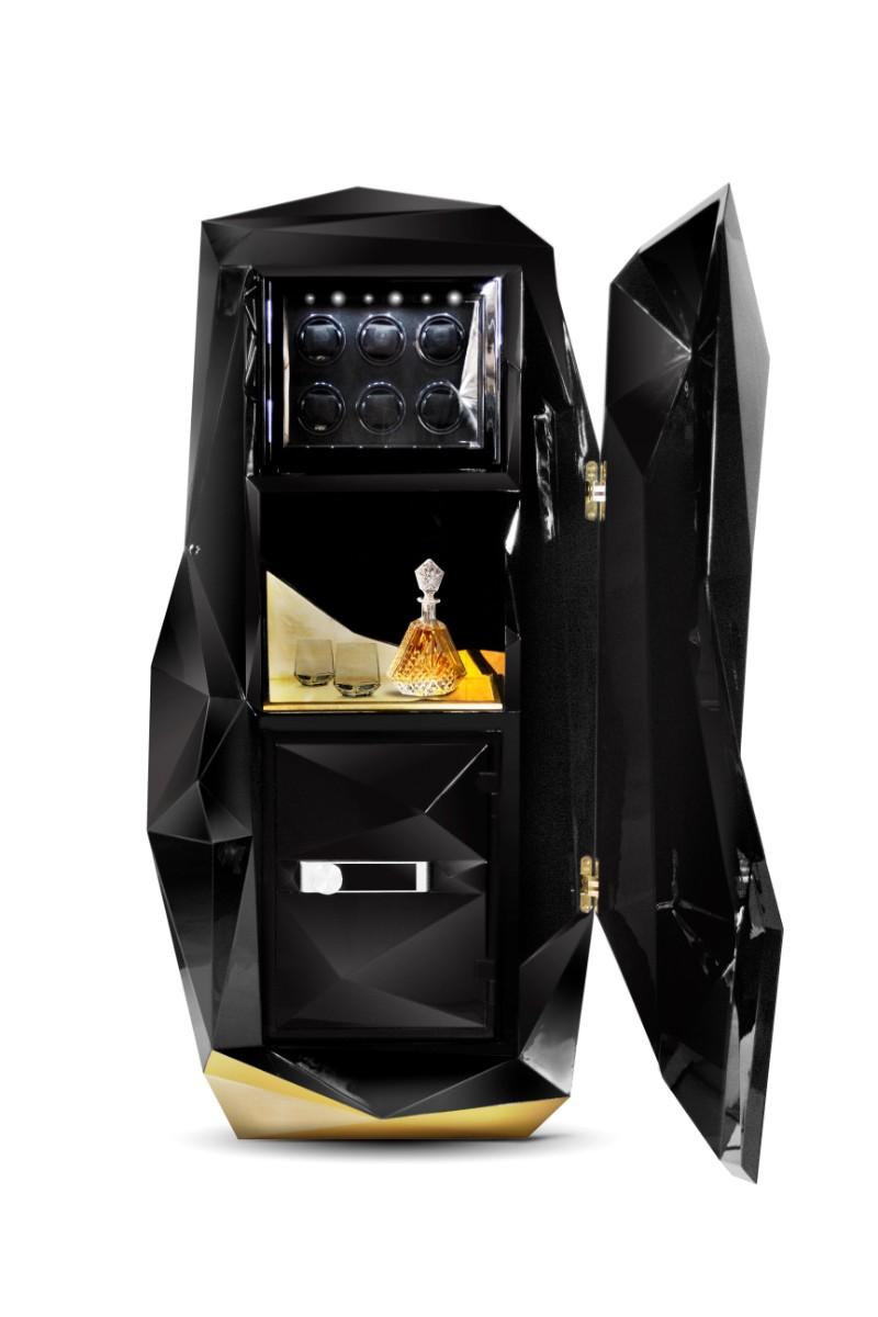maison et objet Private Collection Pieces by Boca do Lobo at Maison et Objet 2019 Diamond Black Luxury Safe by Boca do Lobo 2