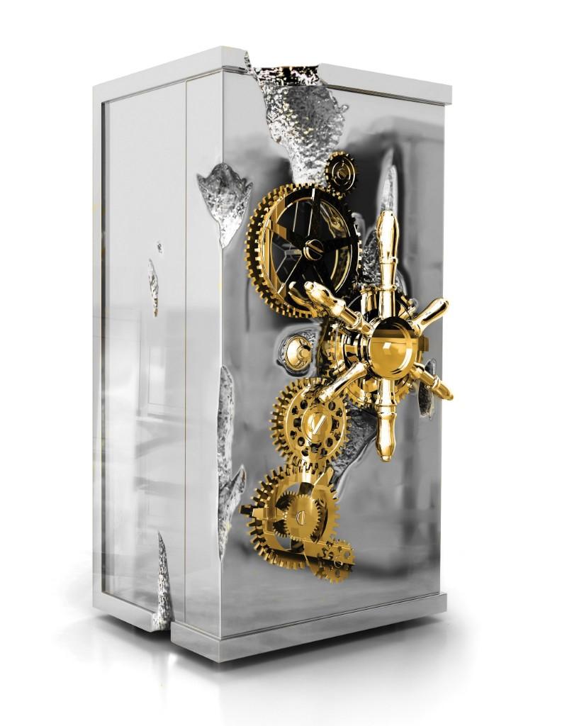maison et objet Private Collection Pieces by Boca do Lobo at Maison et Objet 2019 Millionaire Silver Luxury Safe by Boca do Lobo 1 1 1