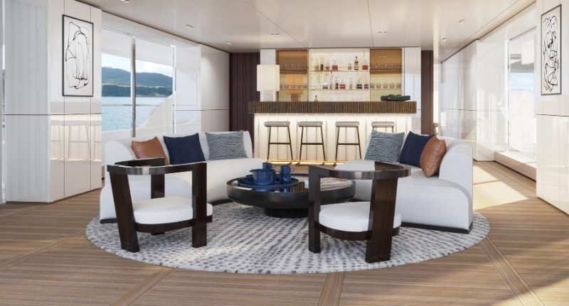 superyacht The Benetti's Superyacht Designed Like a Luxury Penthouse The Benettis   s Superyacht Designed Like a Luxury Penthouse 11