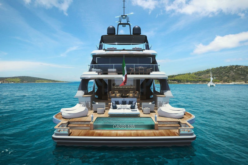 superyacht The Benetti's Superyacht Designed Like a Luxury Penthouse The Benettis   s Superyacht Designed Like a Luxury Penthouse 7