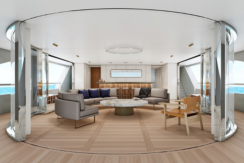 superyacht The Benetti's Superyacht Designed Like a Luxury Penthouse The Benettis   s Superyacht Designed Like a Luxury Penthouse 8