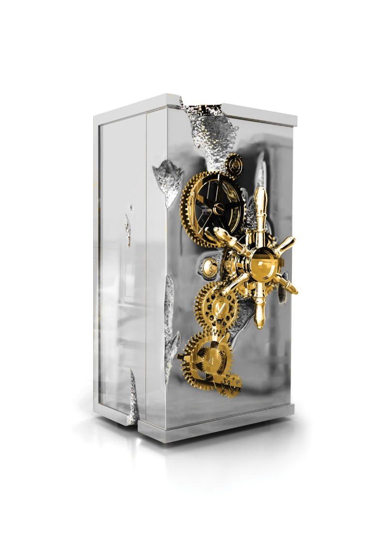 The Best of Exclusive Design: The Remarkable Millionaire Safes exclusive design The Best of Exclusive Design: The Remarkable Millionaire Safes Millionaire Silver Safe by Boca do Lobo 2