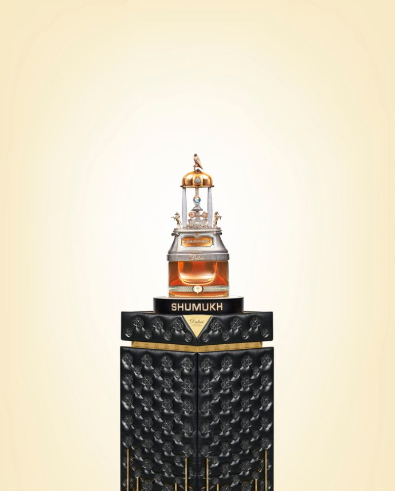 most expensive perfume in the world The Most Expensive Perfume in the world: SHUMUKH from Dubai SHUMUKH Masterpiece on Pedestal