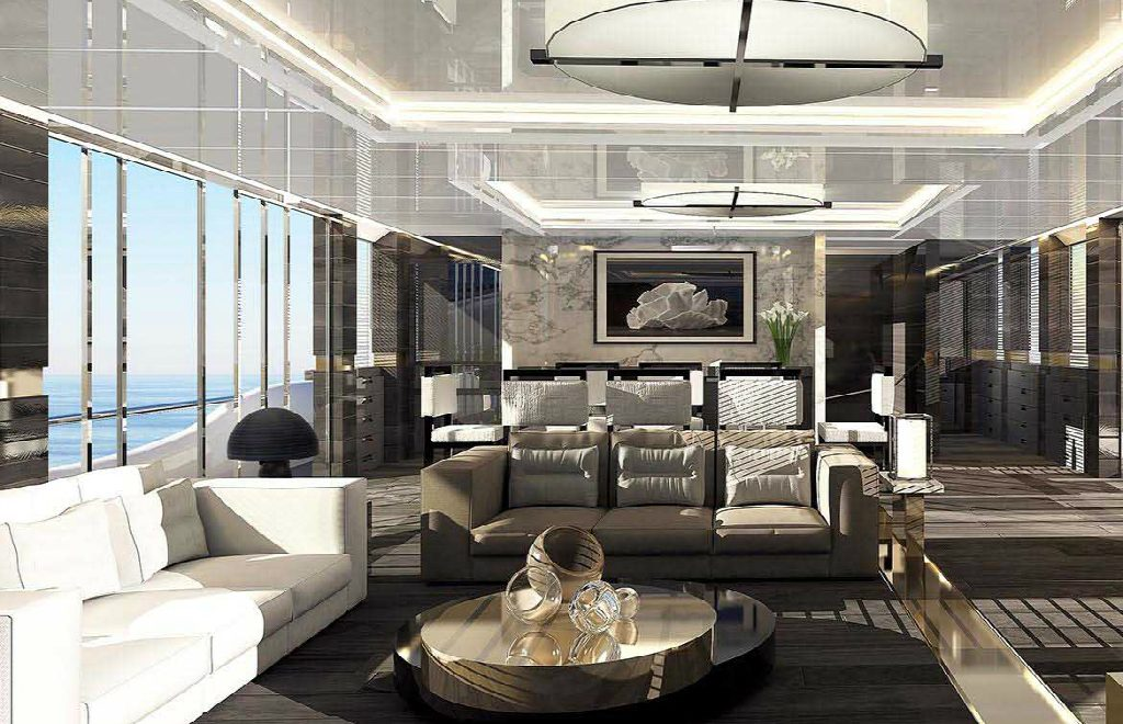The Pearl 95 – A Superyacht with an Interior Design by Kelly Hoppen