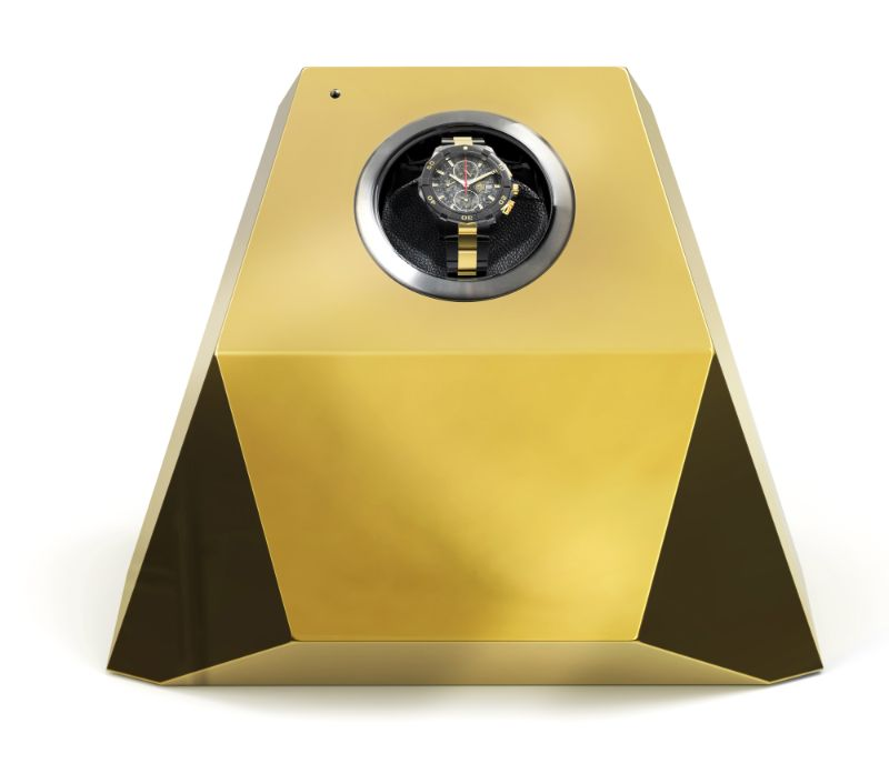 Golden and Modern Watch Winders to Keep Safe Your Timepieces watch winders Golden and Modern Watch Winders to Keep Safe Your Timepieces diamond gold1