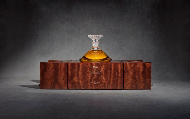 macallan Macallan 72 Years Old – Meet This Exclusive and Rare Whiskey mac 2018 72 years old in lalique genesis decanter box open with decanter and stopper Copy